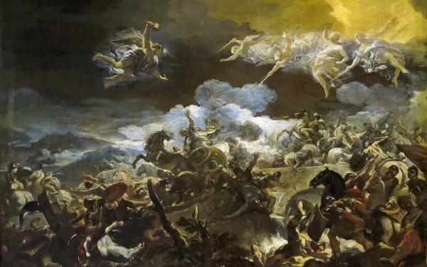 Artistic Painting Battle Warrior Gods Angel HD Wallpaper   Background Image