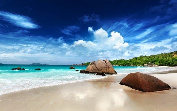Tierra/Naturaleza Playa Seychelles Rock Océano Turquesa Fondo de pantalla HD | Fondo de Escritorio