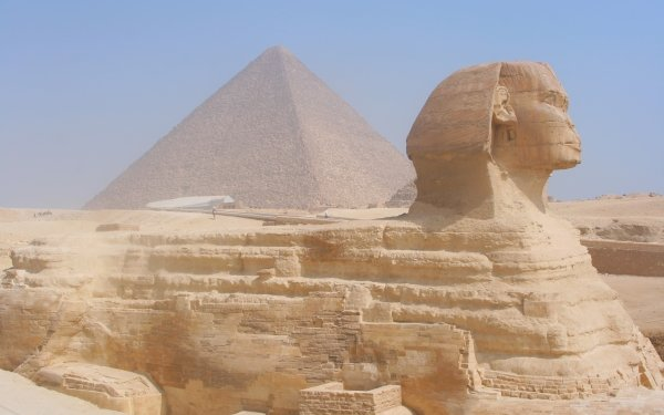 Man Made Sphinx Giza Egyptian Egypt Rock Pyramid HD Wallpaper | Background Image