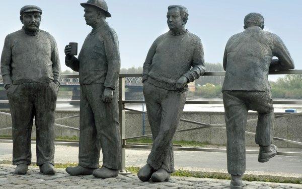 Man Made Statue Man Sculpture Artistic HD Wallpaper   Background Image