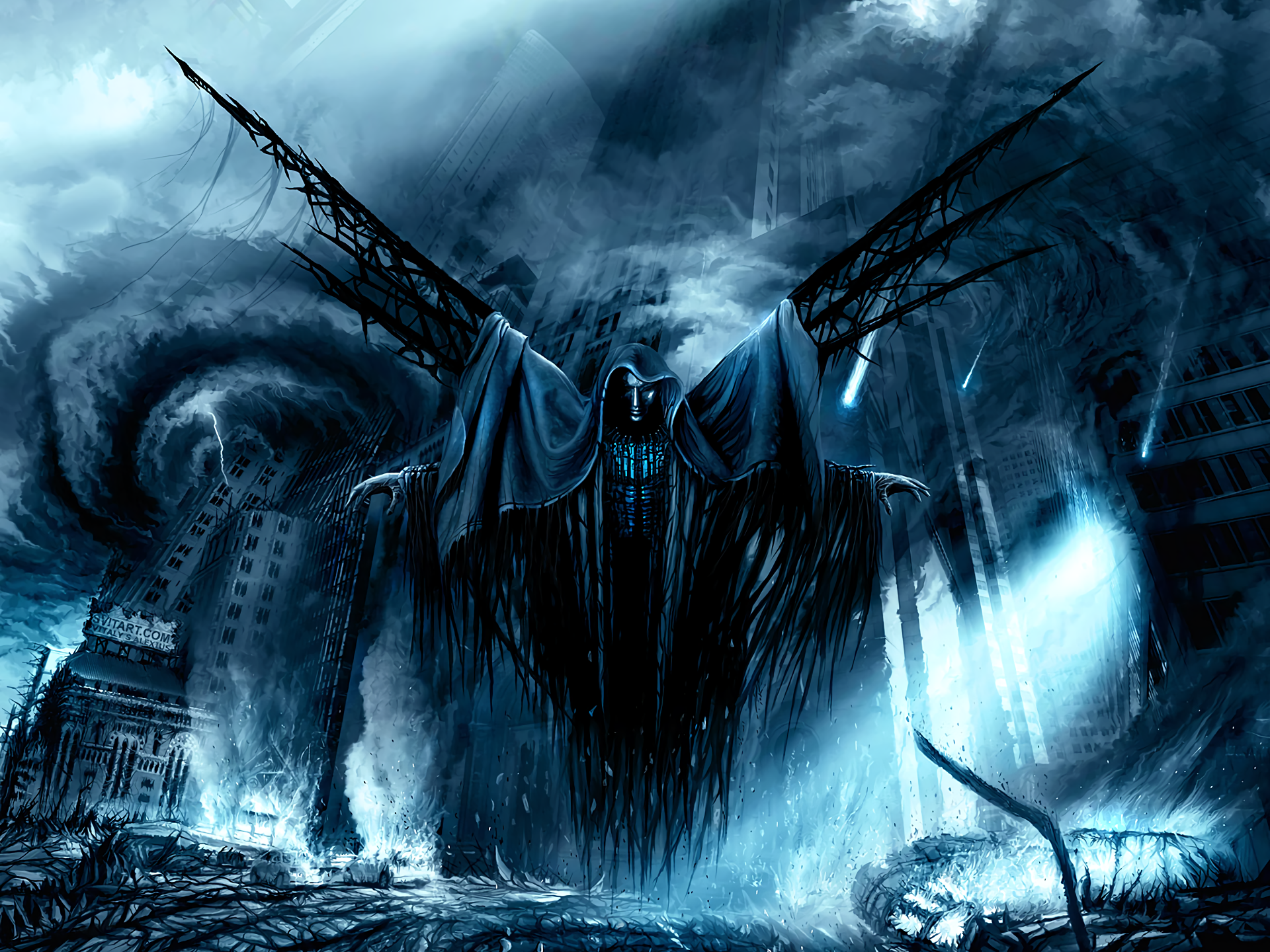 apocalyptic demon fantasy hd wallpaper background image