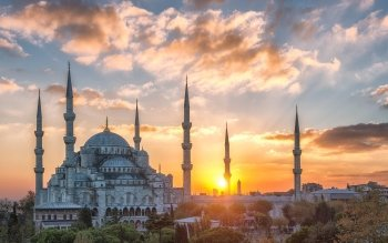 Ahmed Mosque Turkey HD Wallpaper