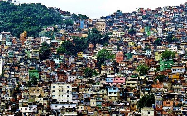Man Made Favela Brazil House Rio de Janeiro HD Wallpaper | Background Image