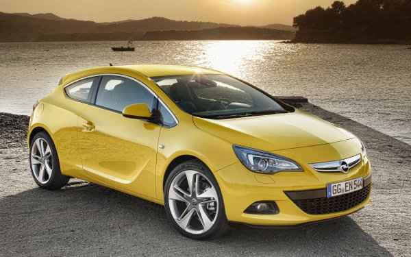 Vehicles Opel Astra Opel Compact Car Yellow Car HD Wallpaper   Background Image