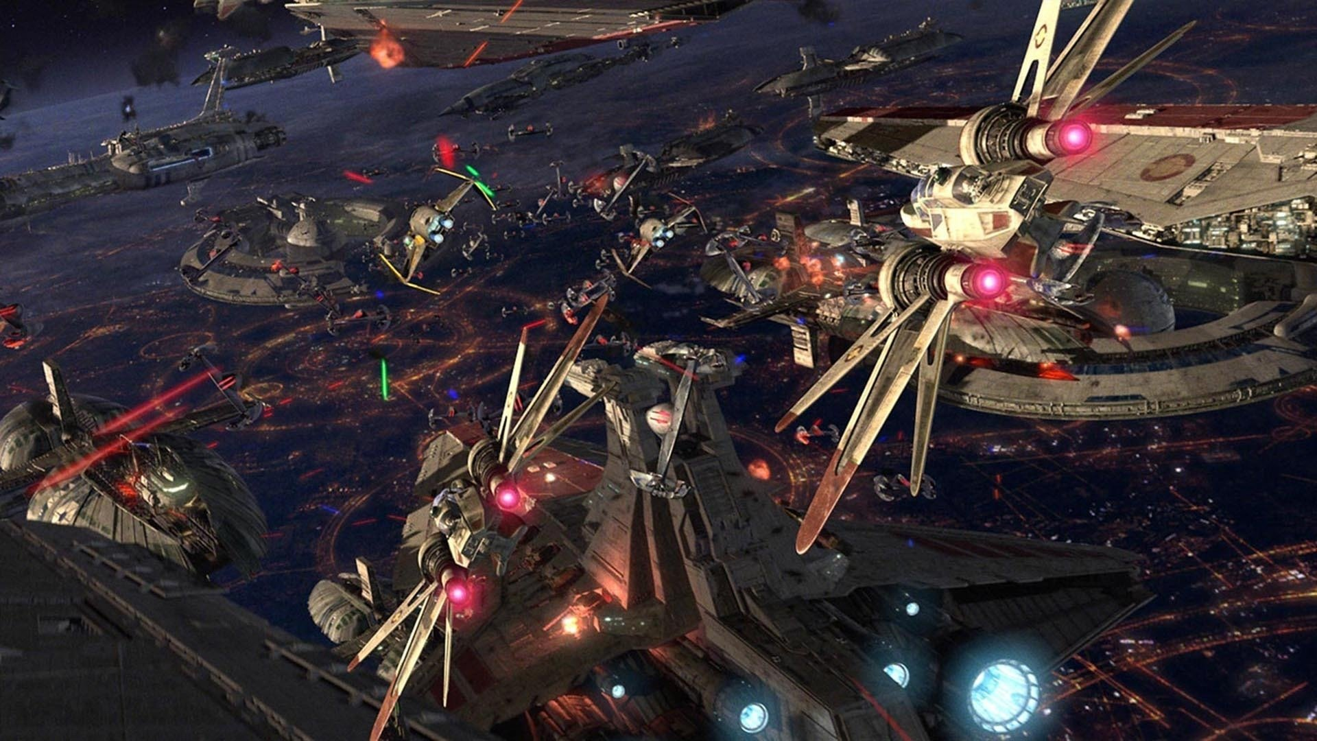 Battles Of Coruscant Hd Wallpaper Background Image 1920x1080 Id 697960 Wallpaper Abyss