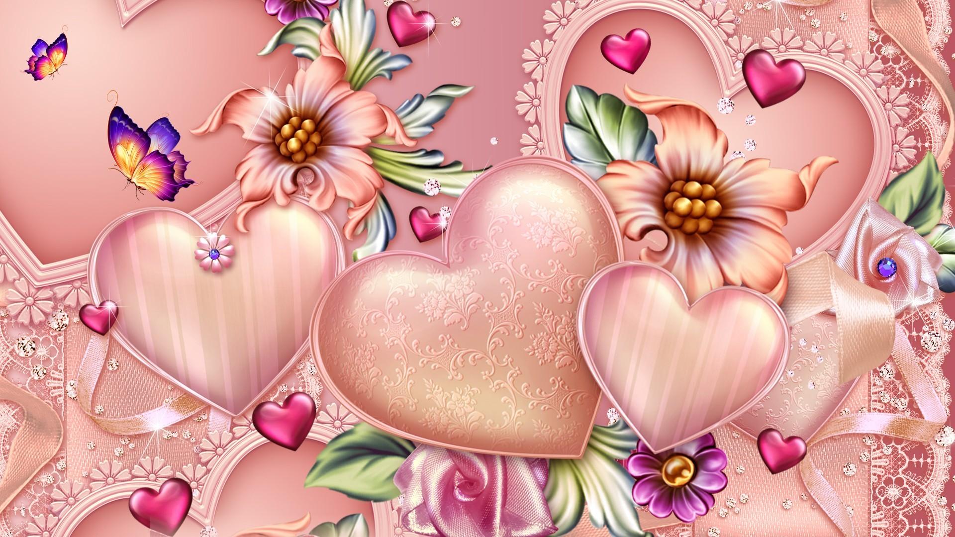 Lace Heart HD desktop wallpaper Widescreen High Definition