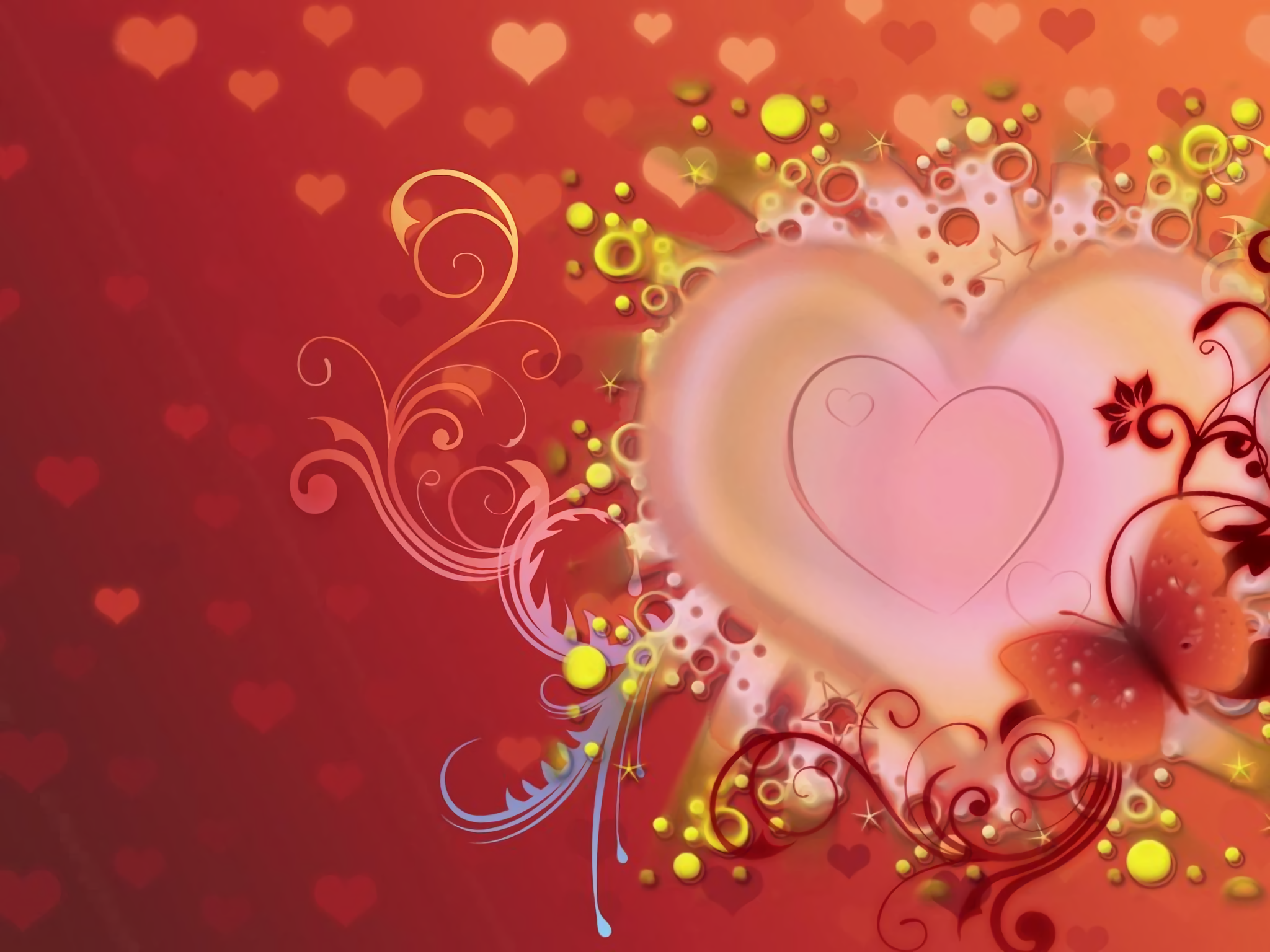 abstract heart full hd wallpaper and background image | 2048x1536
