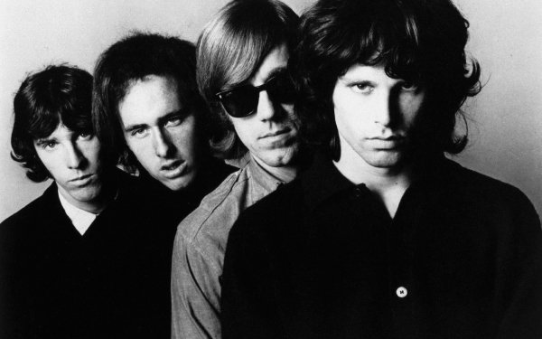 Music The Doors Band (Music) United States Rock John Densmore Robby Krieger Ray Manzarek Jim Morrison Black & White Monochrome HD Wallpaper   Background Image