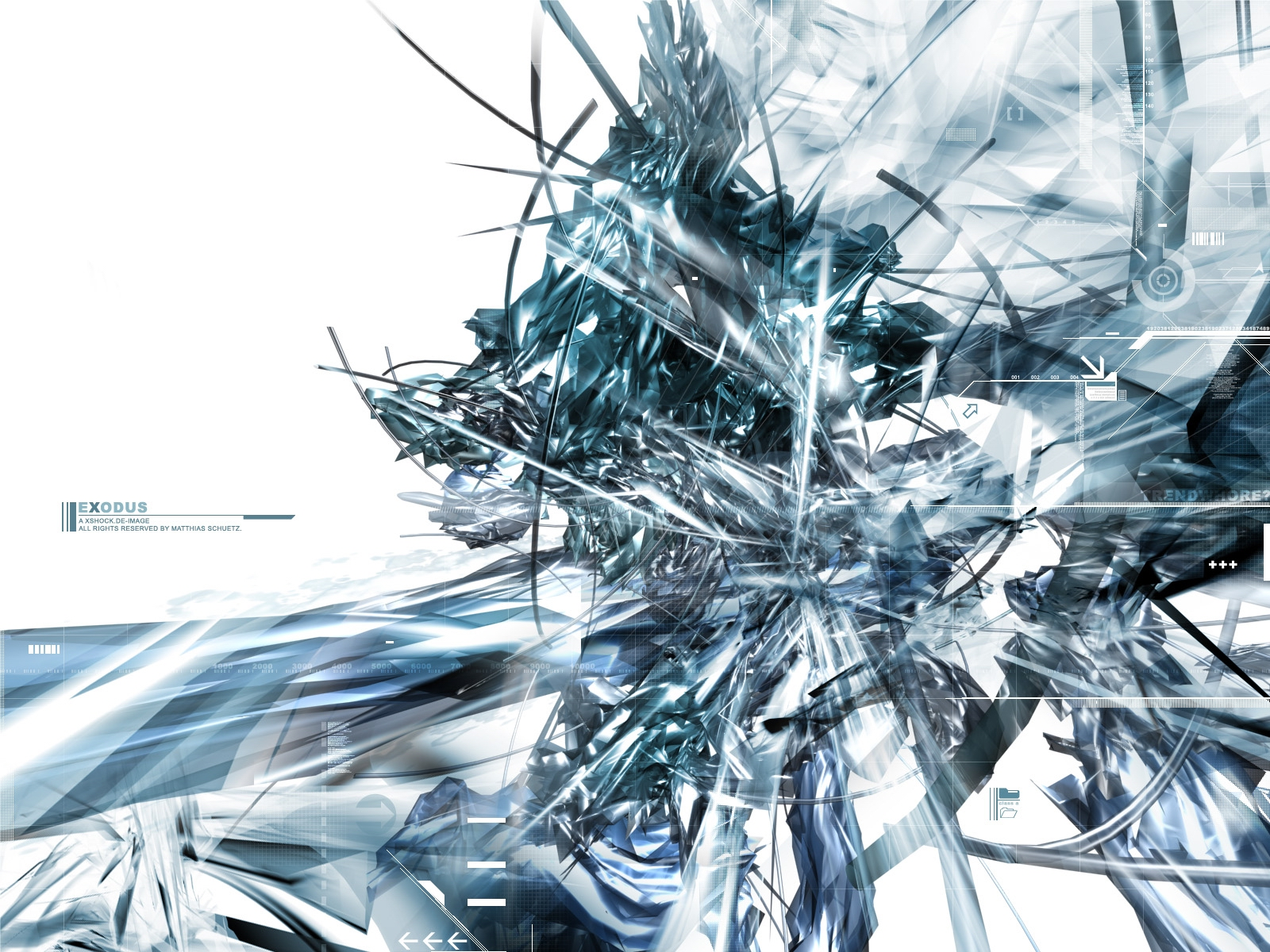 Abstract - White  Colors Shapes Pattern Shades Texture CGI Technology Artistic Abstract Wallpaper
