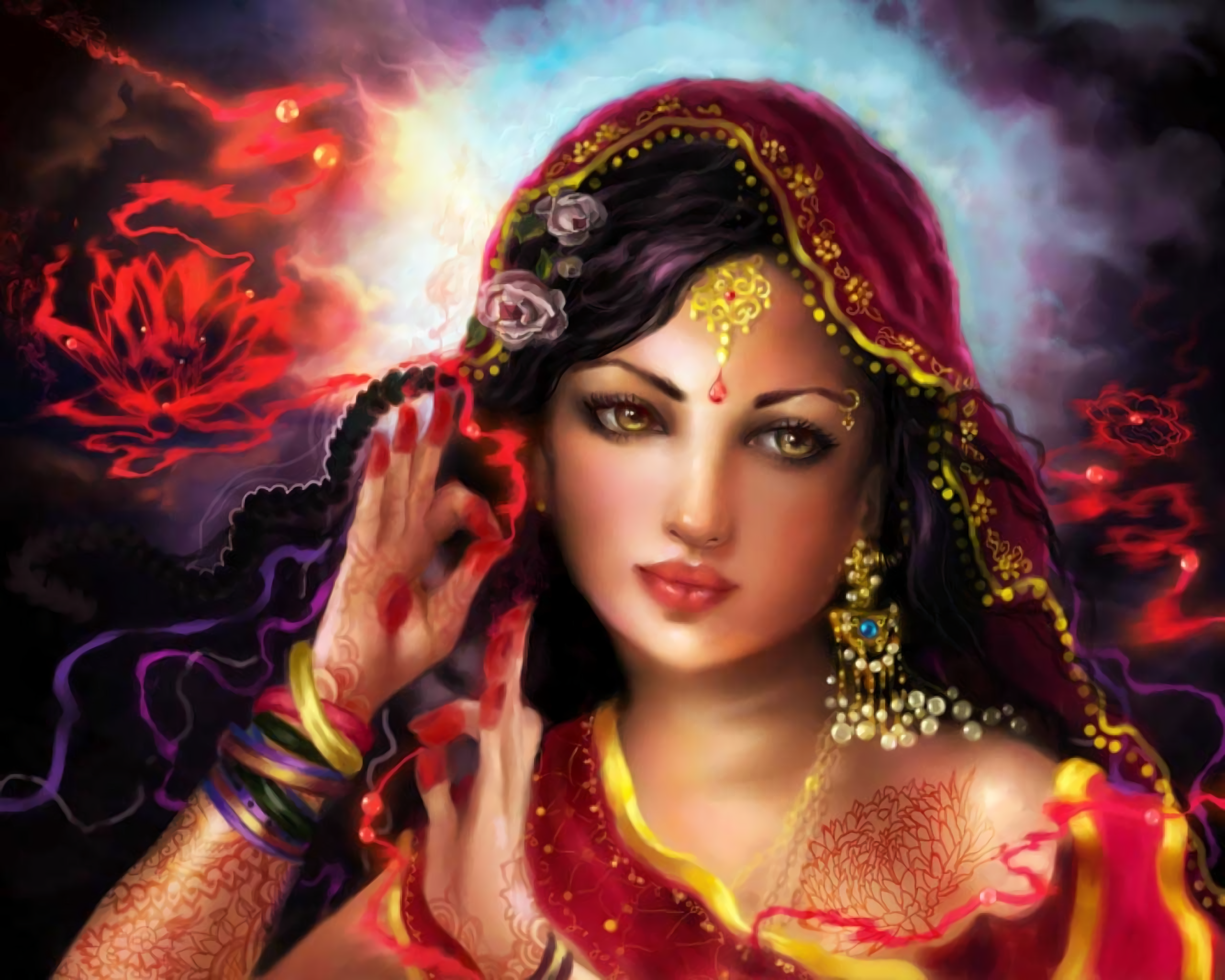 Fantasy girl hd wallpaper background image 2560x2048 - Indian ladies wallpaper ...