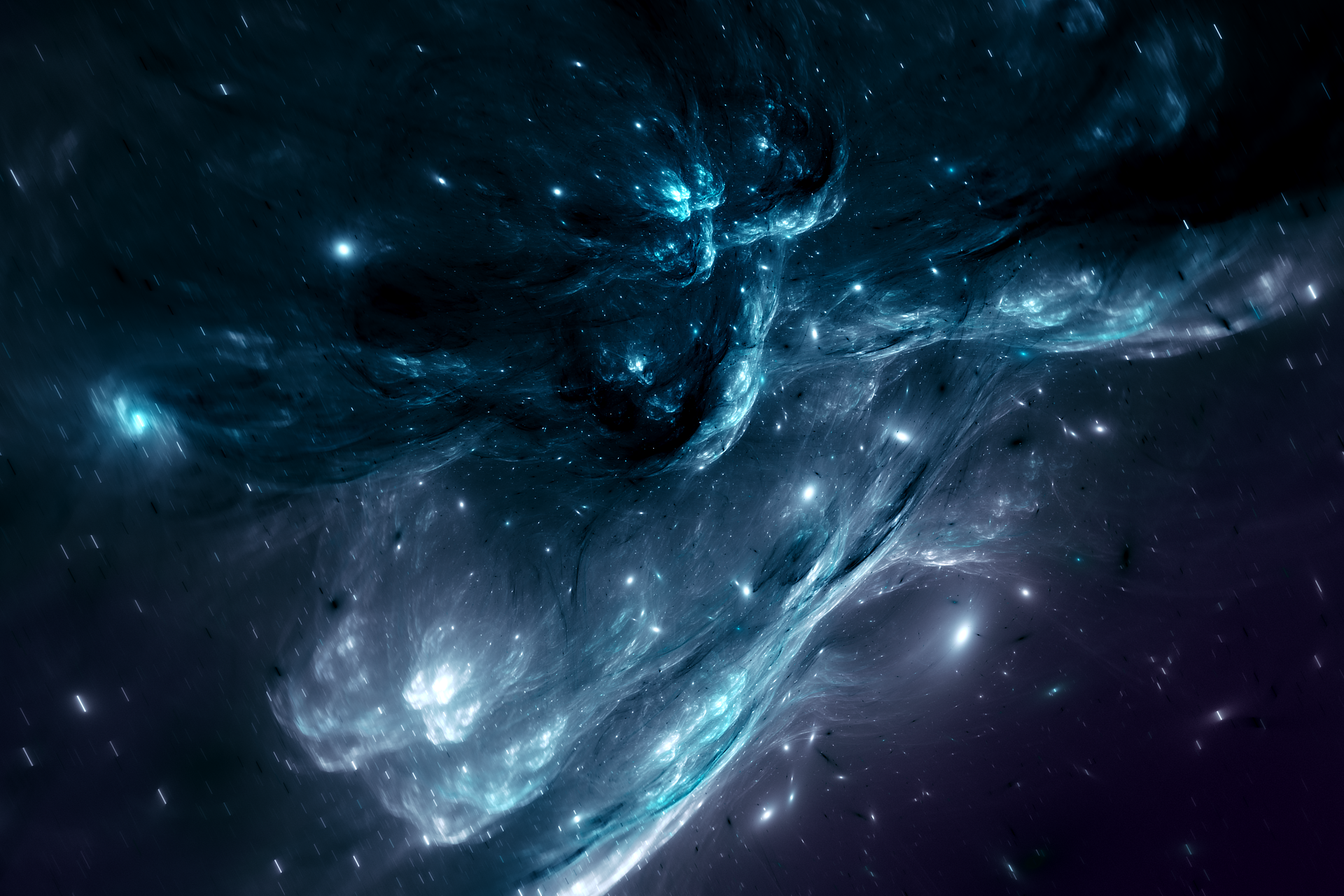 Blue space nebula hd wallpaper hintergrund 1920x1280 - Blue space hd ...
