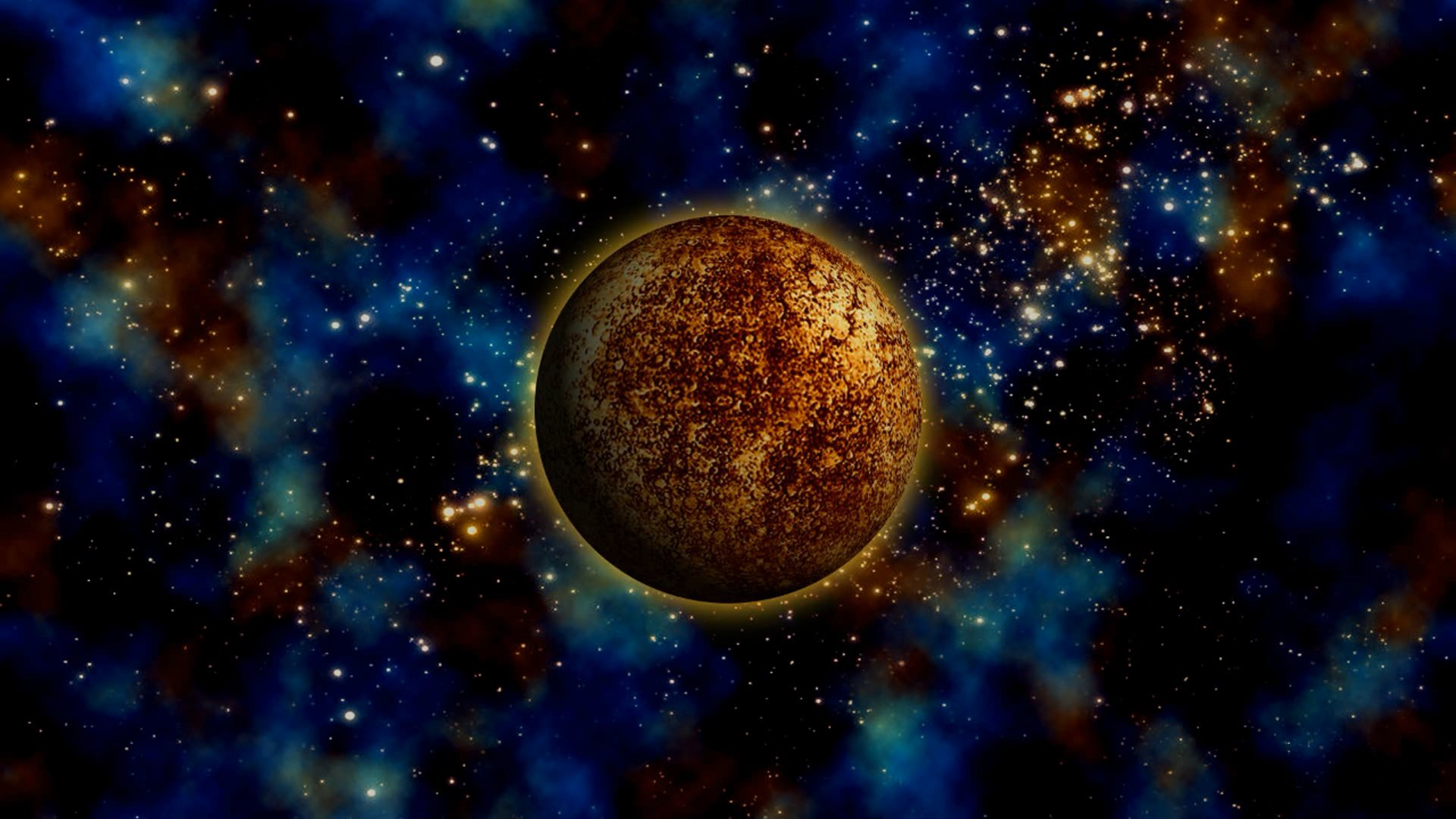 Gold Planet Hd Wallpaper Background Image 1920x1080
