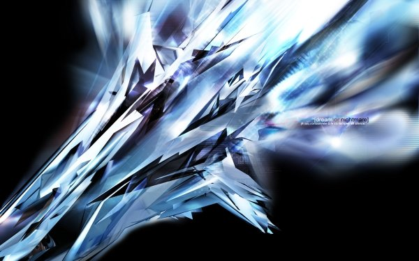 Abstract Blue Shapes Technology Crystal CGI HD Wallpaper   Background Image