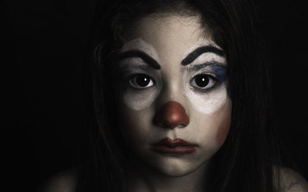 Women Mood Clown Portrait Face Brunette Brown Eyes HD Wallpaper | Background Image