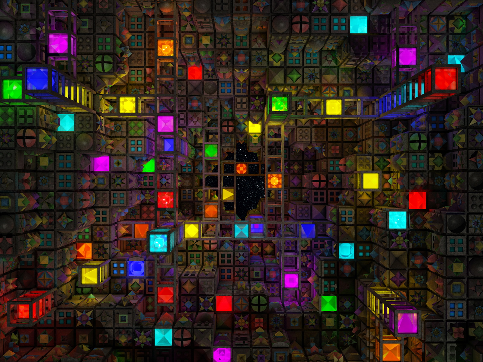 colorful abstract cubes wallpaper and background image | 1600x1200