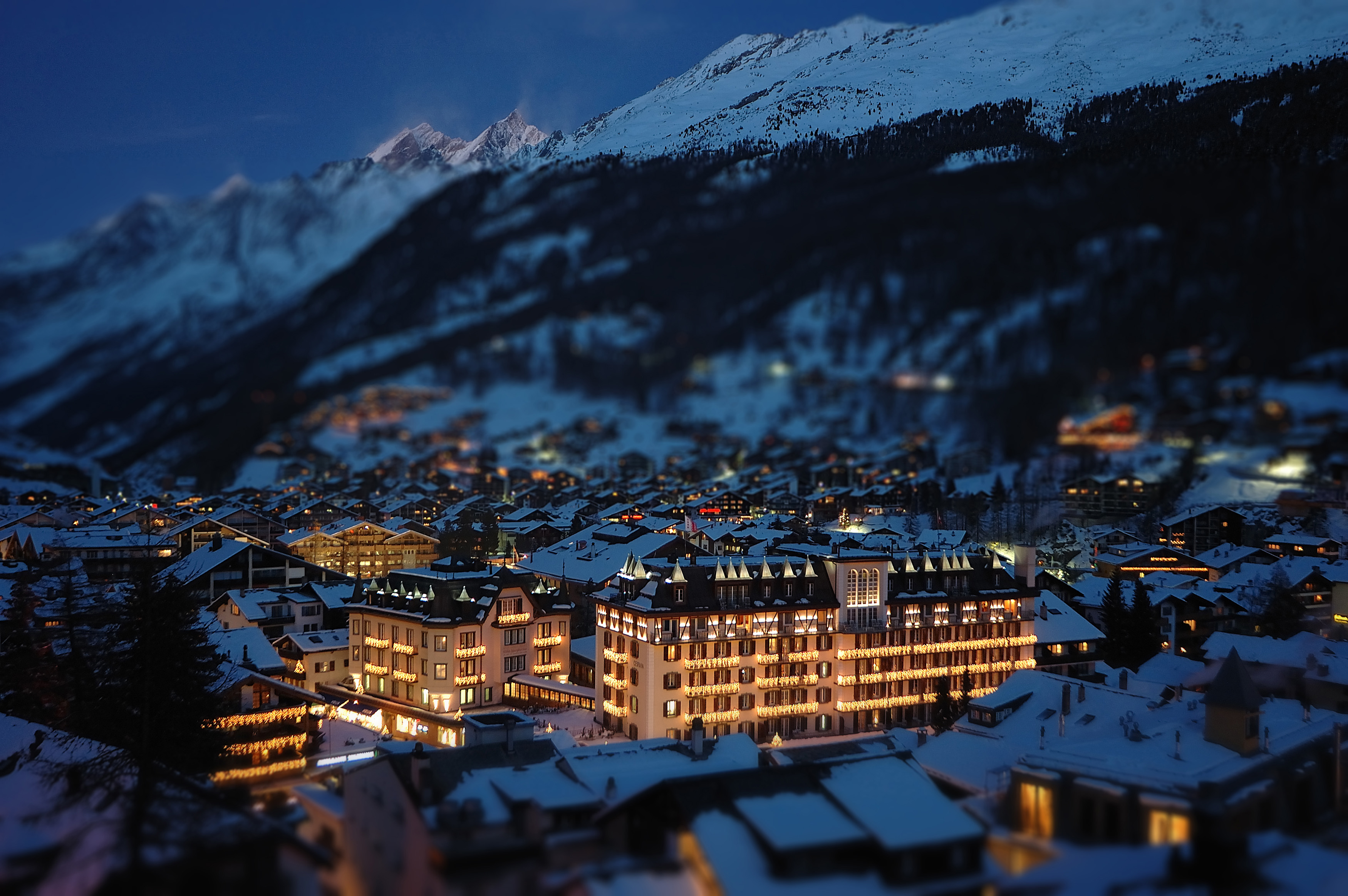 Christmas In Zermatt Switzerland Fondo De Pantalla Hd