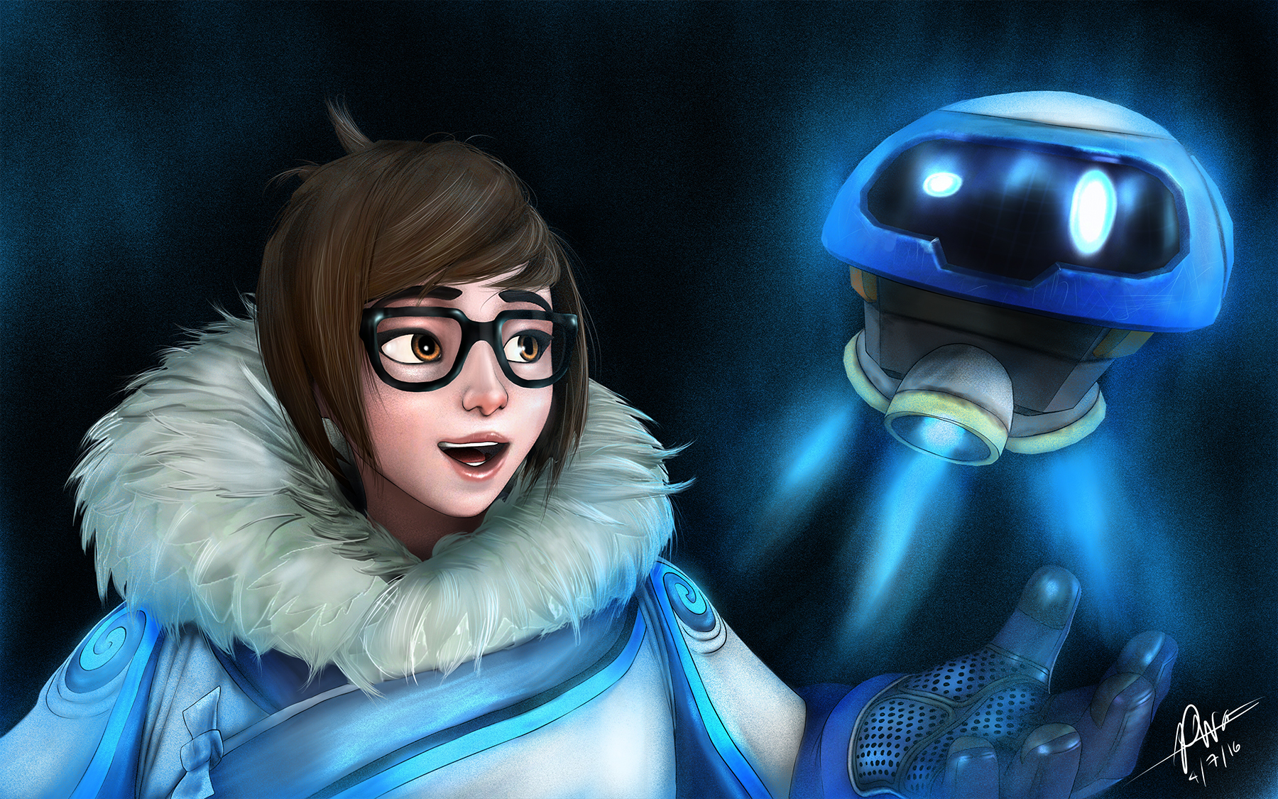 Overwatch wallpaper and background image 1800x1125 id - Mei wallpaper ...