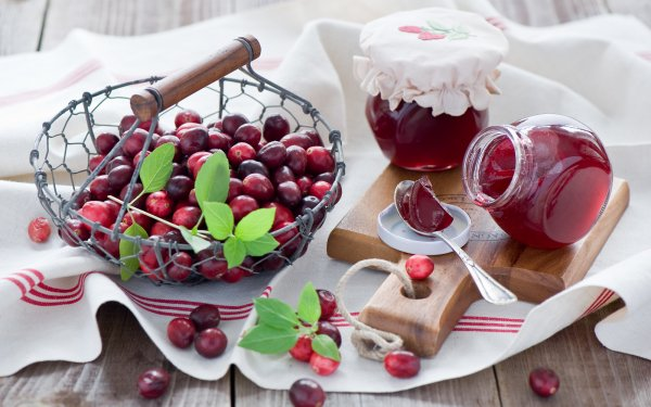 Food Cranberry Berry Fruit Jam Still Life HD Wallpaper | Background Image