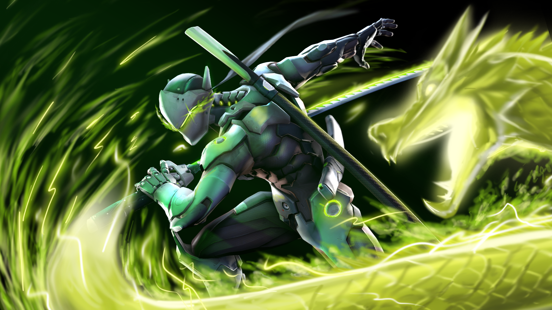 Video Game - Overwatch  Genji (Overwatch) Wallpaper