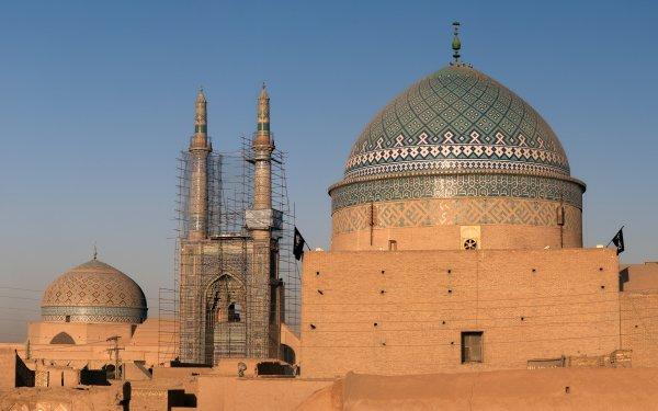 Religious Mosque Mosques Jame Mosque of Yazd Roknedin Mausoleum Mausoleum Yazd Iran HD Wallpaper | Background Image
