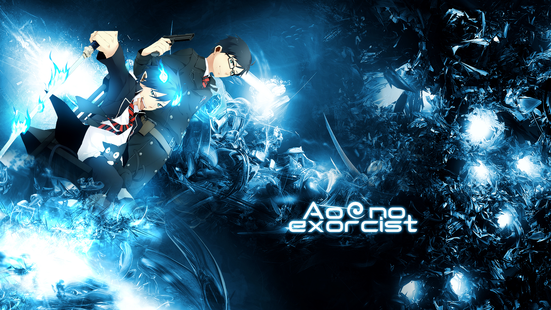Ao no exorcist blue exorcist hd wallpaper background - Blue exorcist wallpaper ...