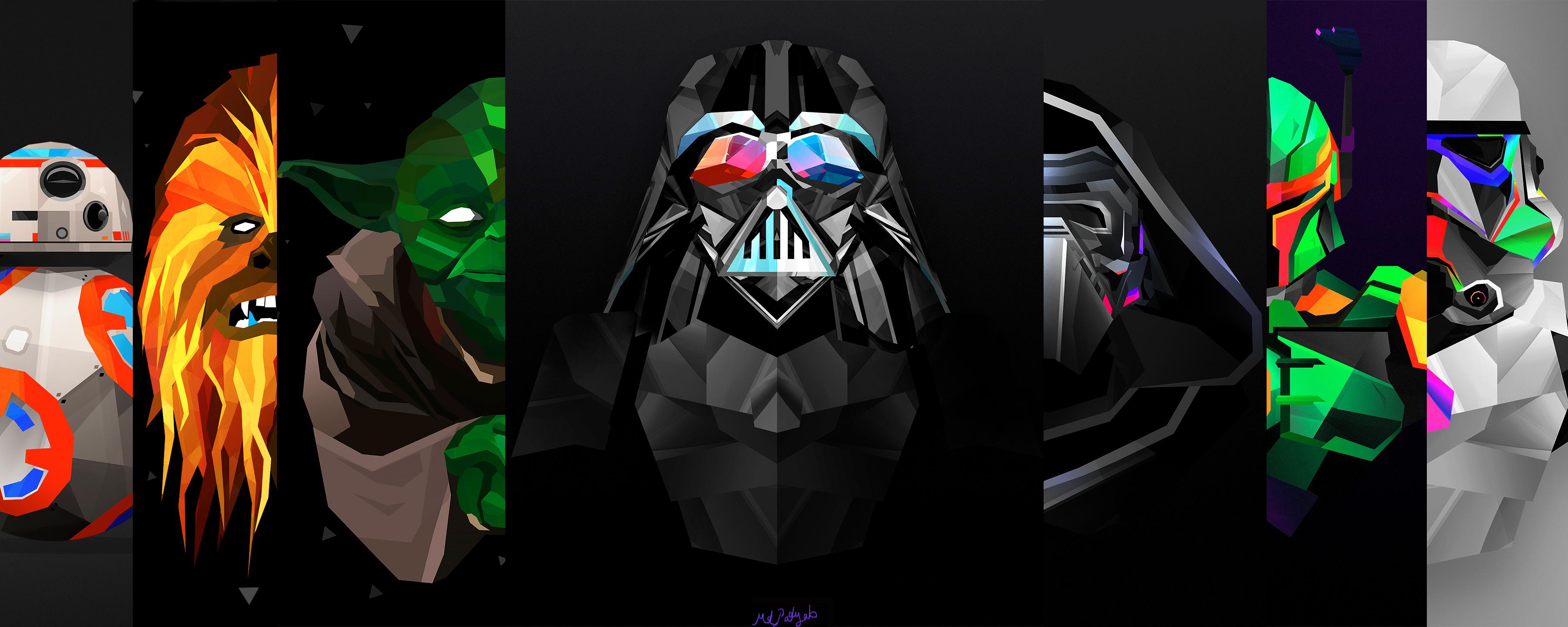 Star Wars Hd Wallpaper Background Image 3600x1440 Id 708084