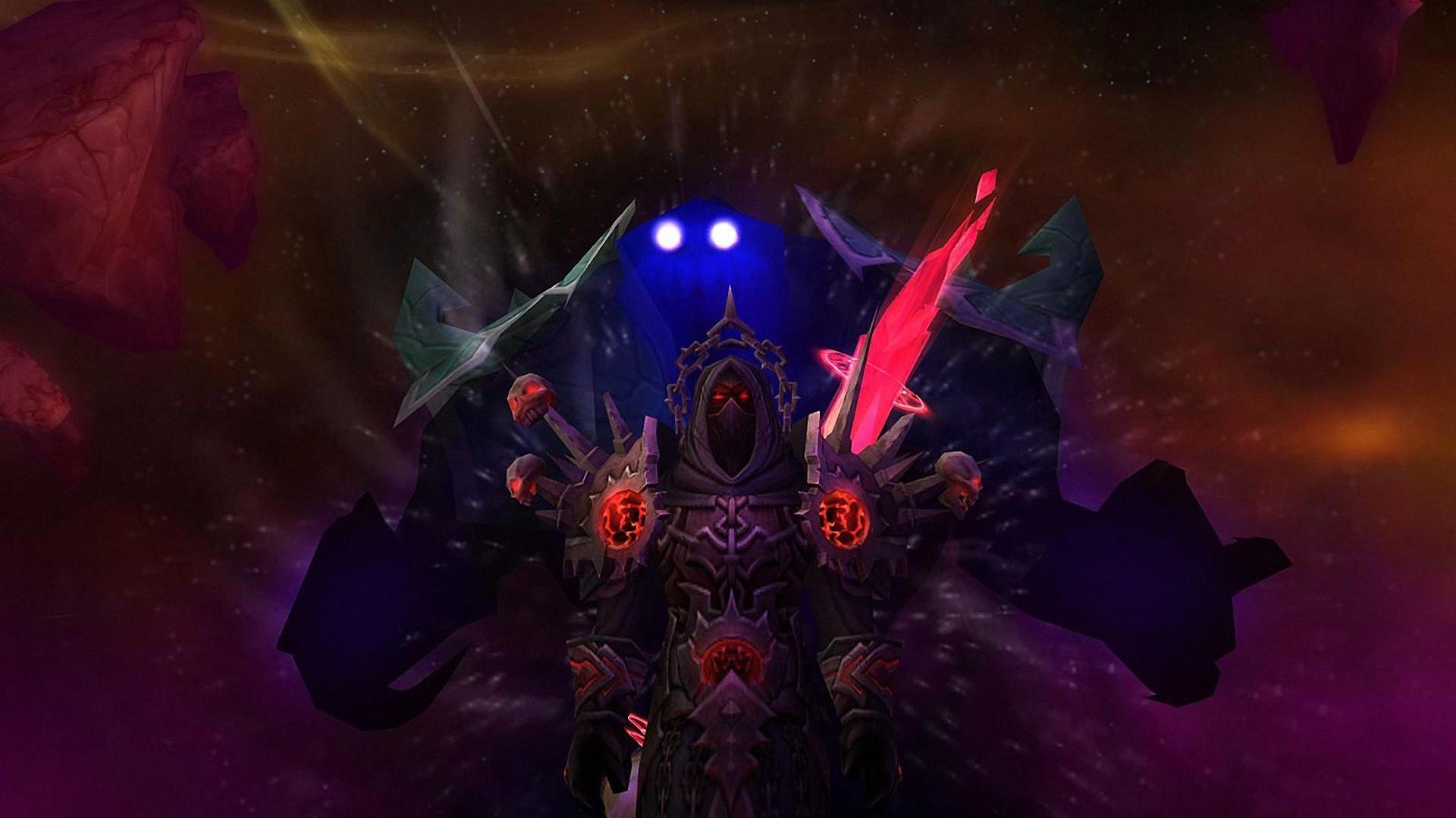 world of warcraft: the burning crusade - warlock hd wallpaper