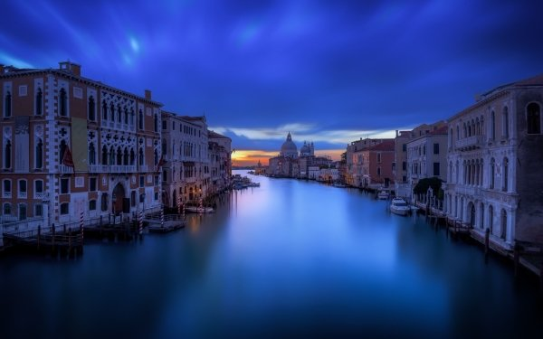 Man Made Venice Cities Italy Grand Canal Dusk Building Architecture HD Wallpaper | Background Image