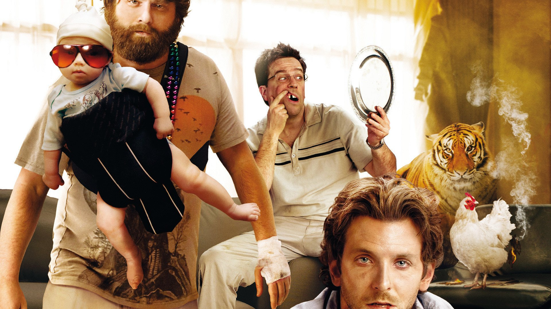 Movie - The Hangover  Bradley Cooper Zach Galifianakis Ed Helms Wallpaper