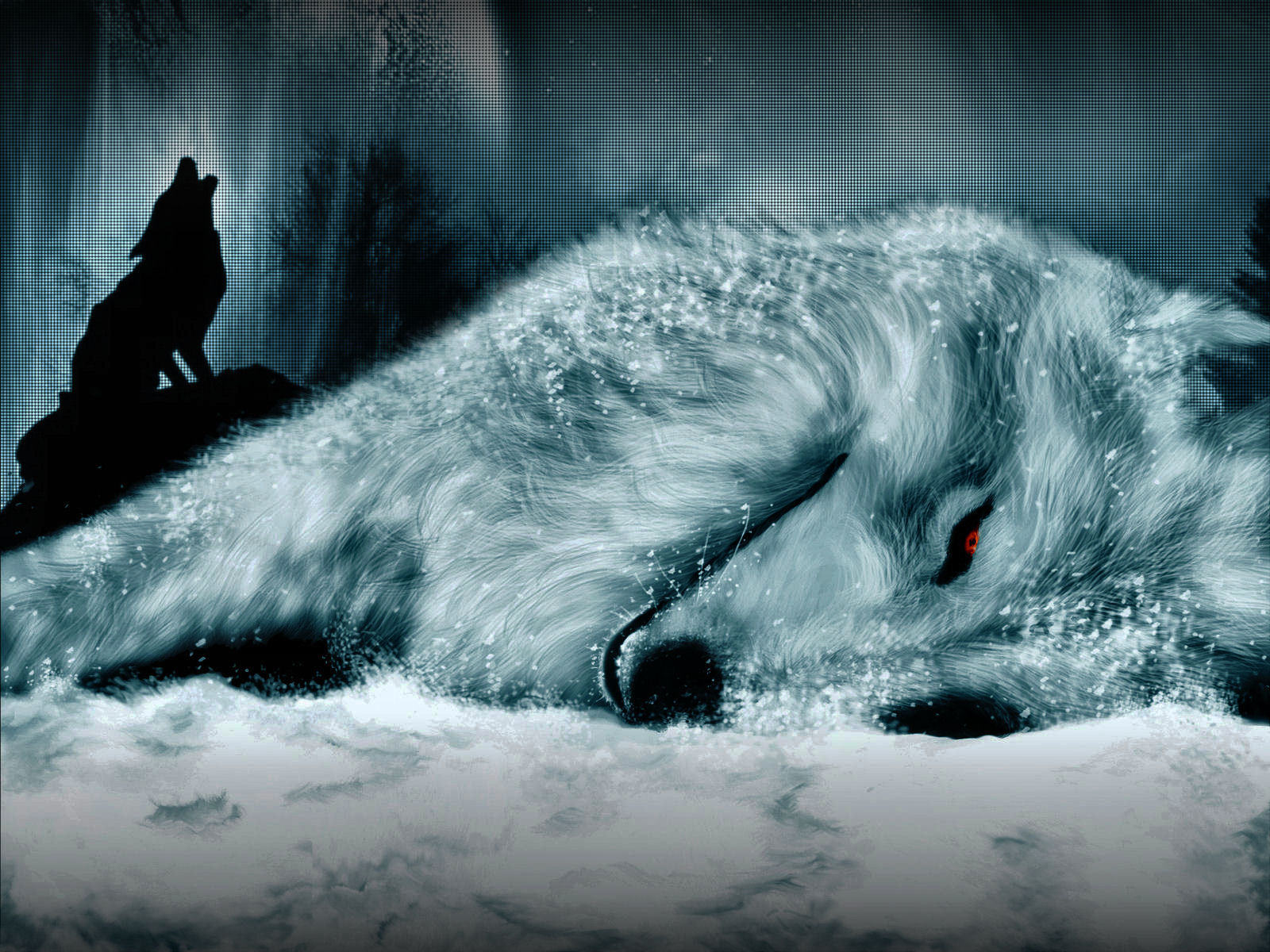 Wolf 39 s rain wallpaper and background image 1600x1200 - Anime wolf wallpaper ...