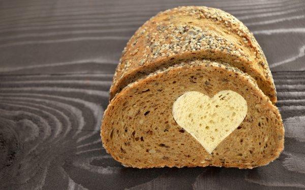 Food Bread Baking Heart HD Wallpaper | Background Image