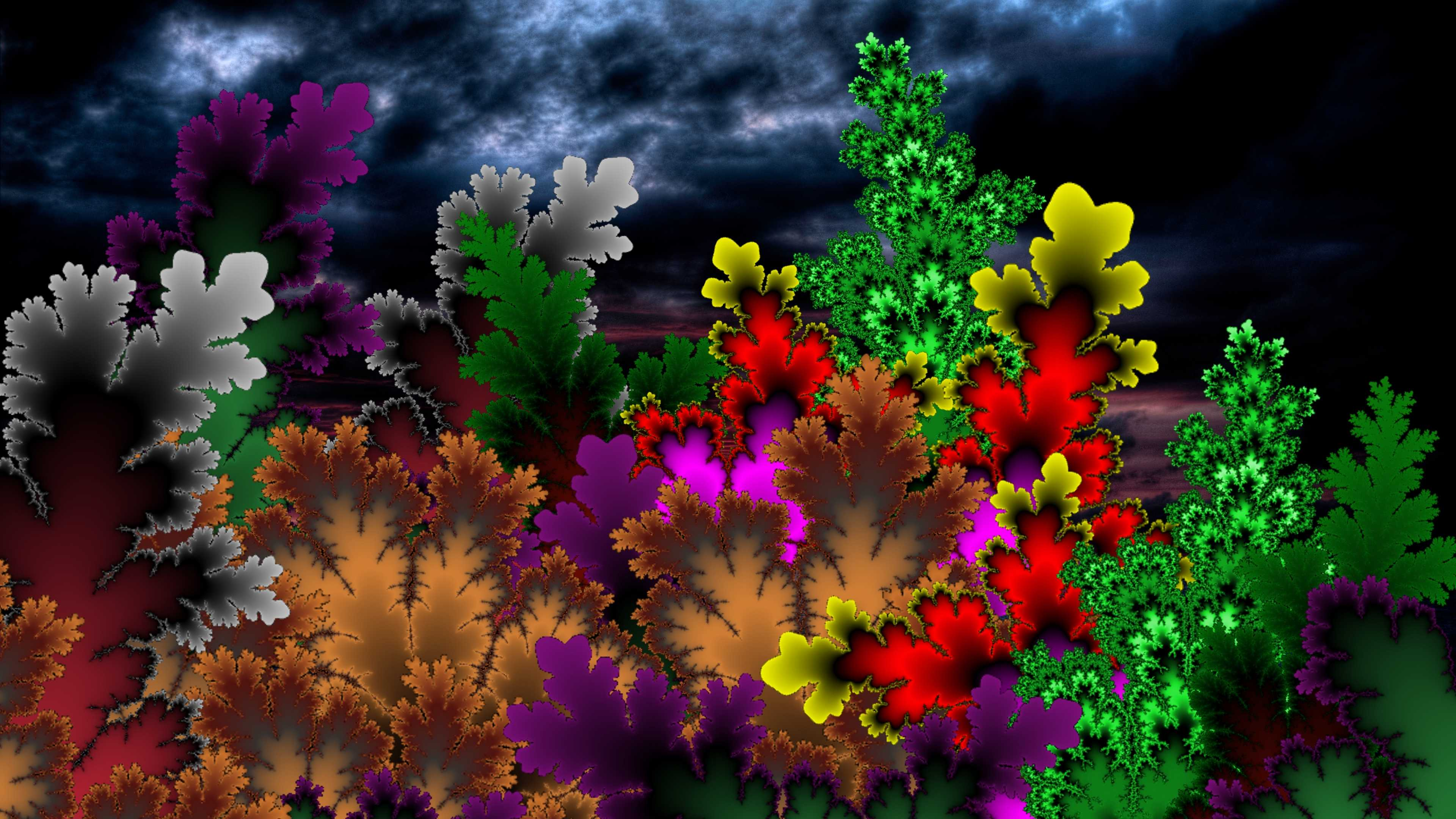Abstract colorful leaves 4k ultra hd wallpaper background image 3840x2160 id 713671 - 4k colorful wallpaper ...