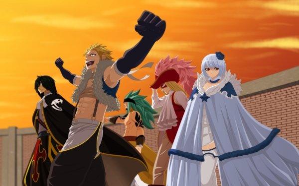 Anime Fairy Tail Sting Eucliffe Rogue Cheney Yukino Aguria Rufus Lore Orga Nanagear Fond d'écran HD | Image