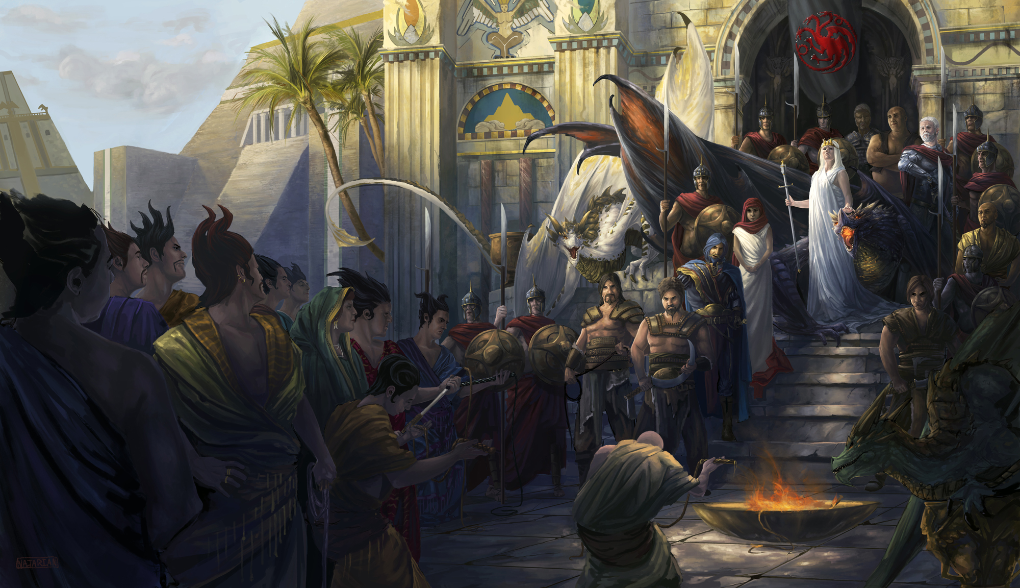 The Surrender Of Mereen Hd Wallpaper Background Image