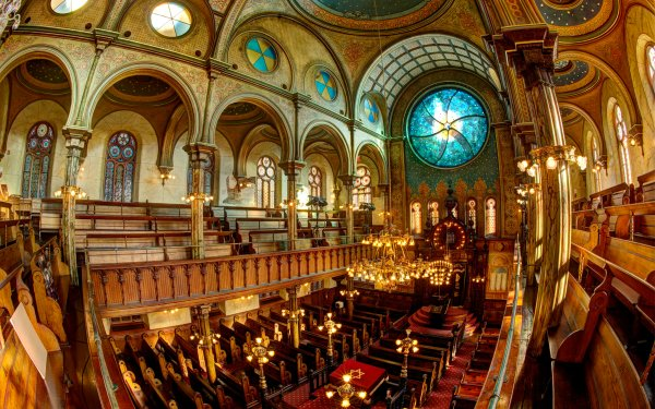 Fotografía Fisheye Synagogue Arquitectura Interior Religious Fondo de pantalla HD | Fondo de Escritorio