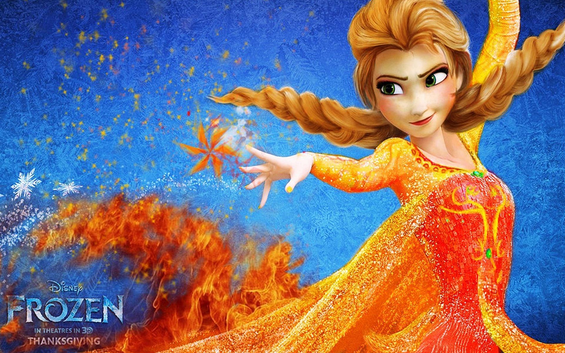 frozen - disney movie - elsa - deviation, on fire full hd wallpaper