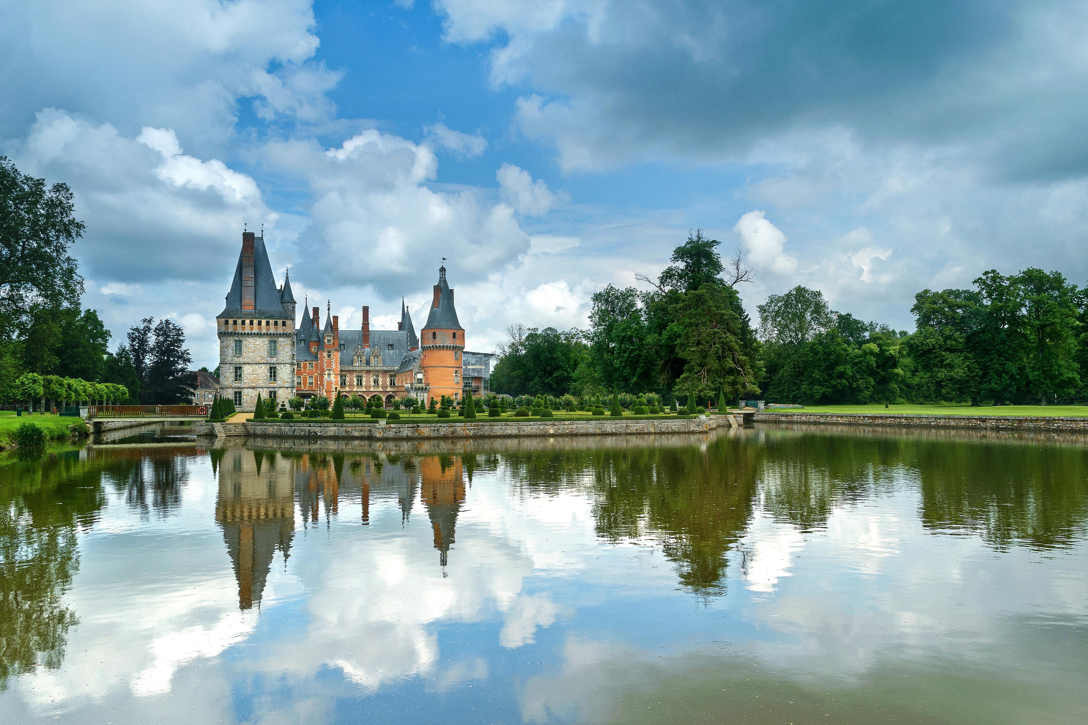Chateau De Maintenon Fond D Ecran Hd Arriere Plan