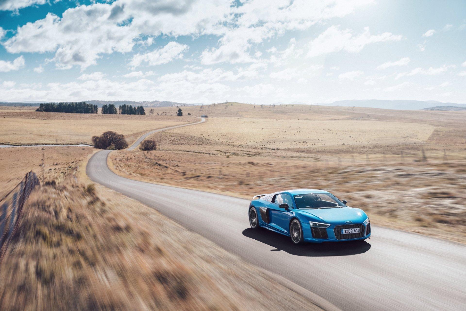 座驾 - 奥迪R8  Blue Car 汽车 Sport Car Supercar 奧迪 Audi R8 V10 交通工具 壁纸