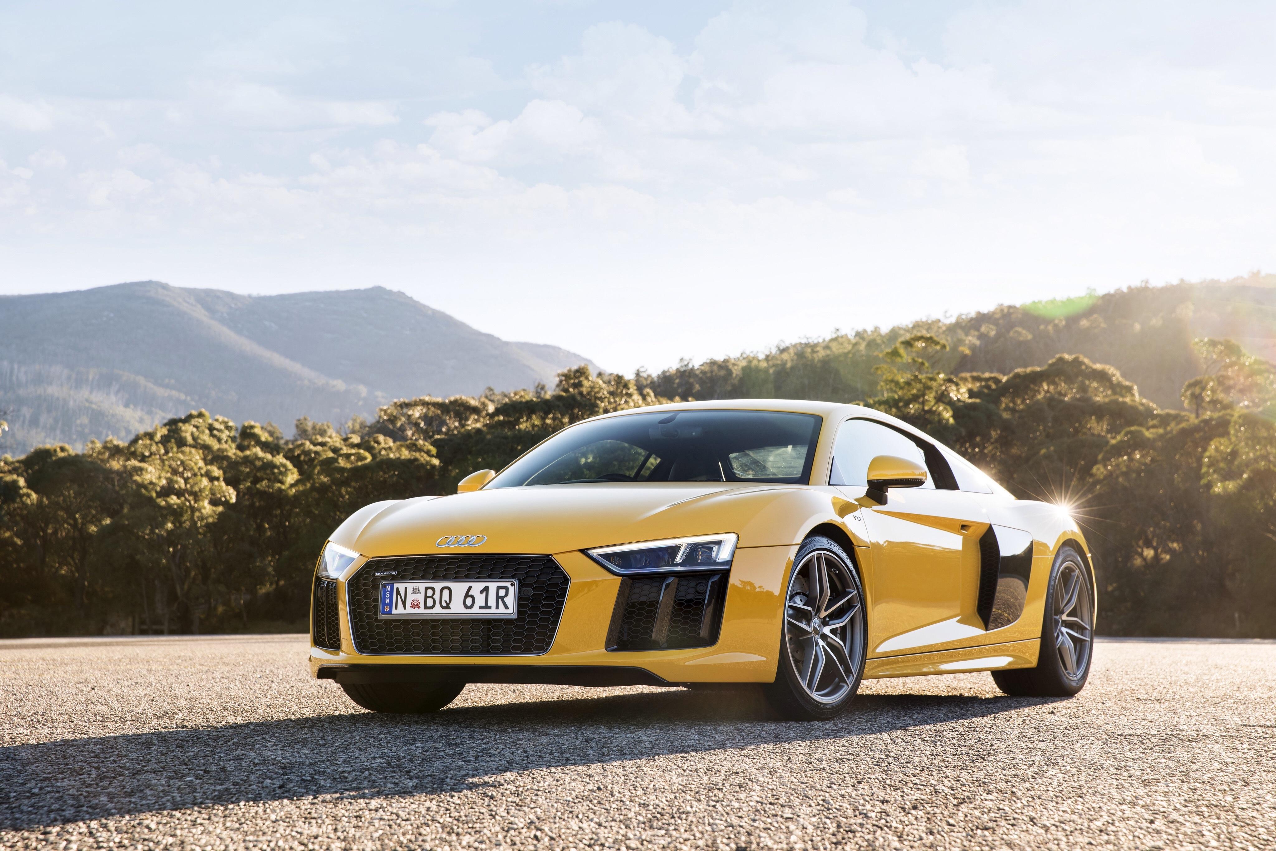 Vehicles   Audi R8 Audi R8 V10 Yellow Car Sport Car Supercar Car Vehicle  Wallpaper