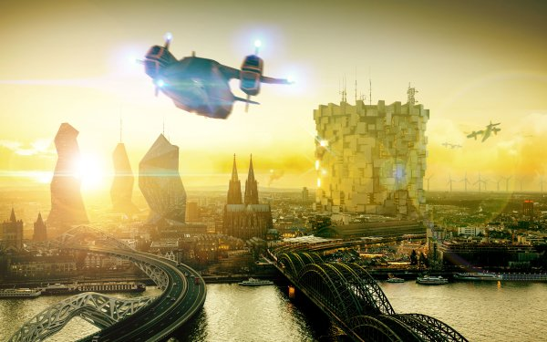 Video Game Deus Ex: Mankind Divided Deus Ex Cologne Cityscape City HD Wallpaper   Background Image
