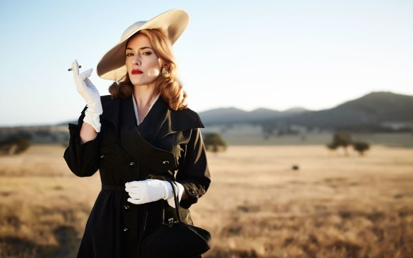 Movie The Dressmaker Kate Winslet Actress English Lipstick Blonde Hat Fashion HD Wallpaper   Background Image