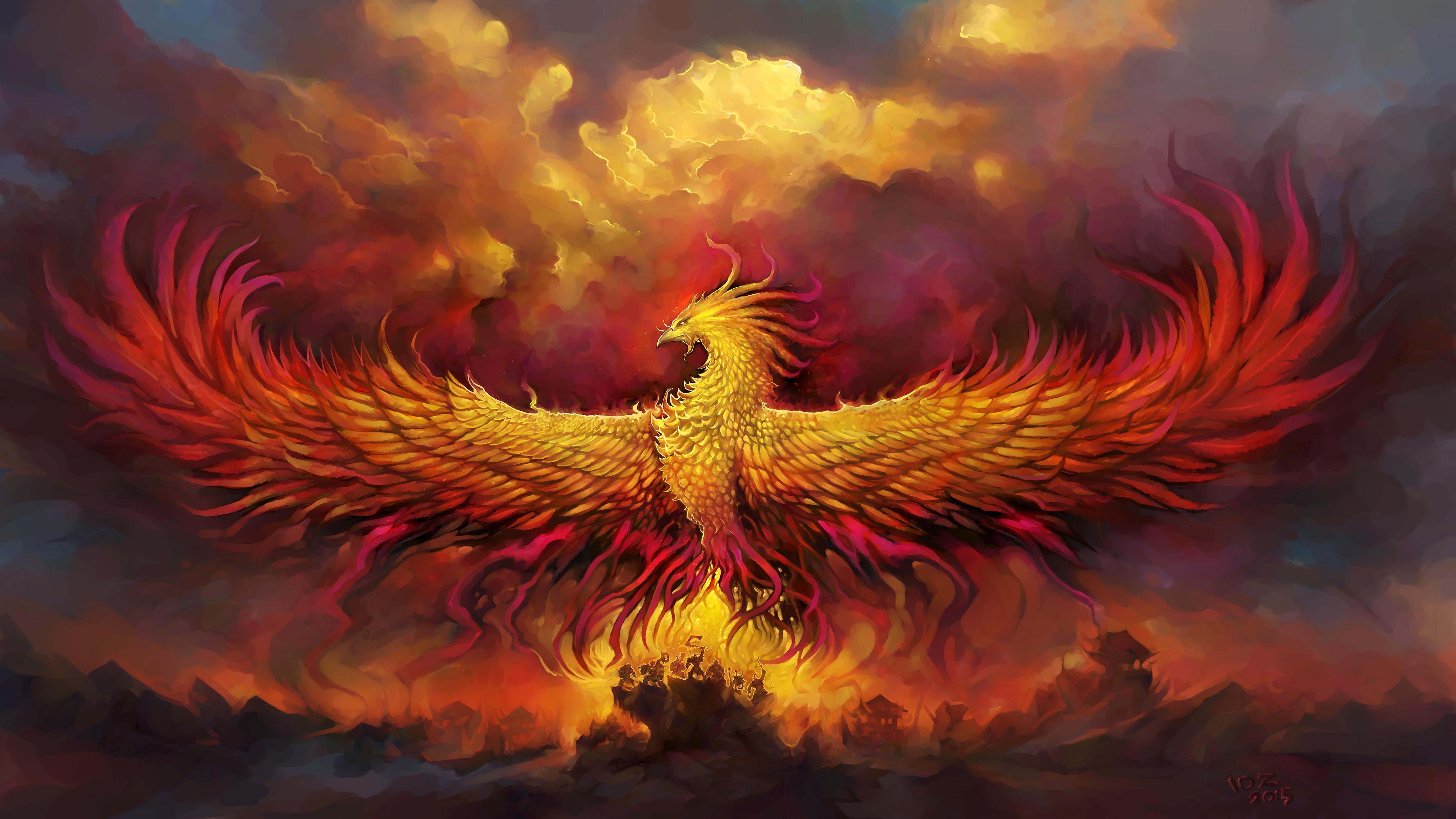 Fiery phoenix 4k ultra hd wallpaper background image 4447x2500 id 728538 wallpaper abyss - Fenix bird hd images ...
