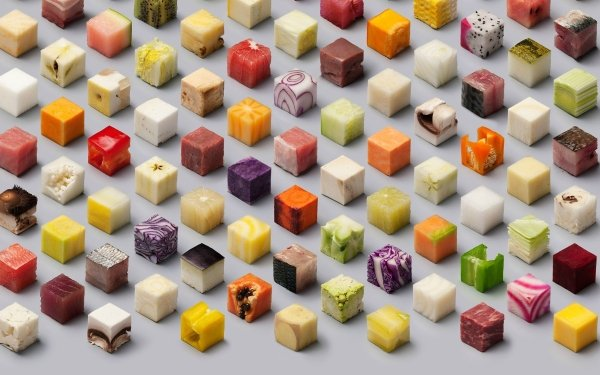 Food Artistic Cube HD Wallpaper | Background Image