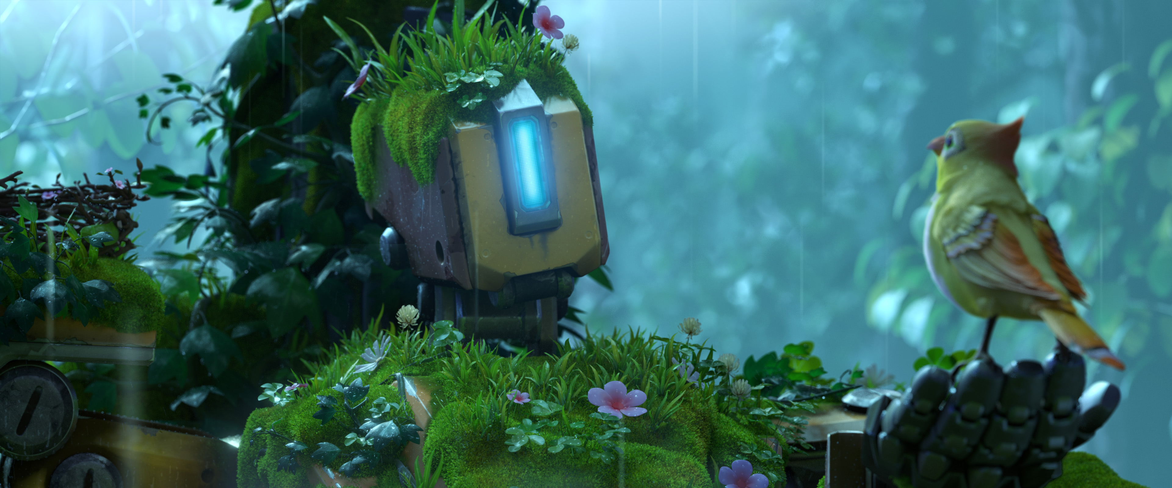 Overwatch bastion hd wallpaper background image 3840x1600 id 737722 wallpaper abyss - Bastion wallpaper ...