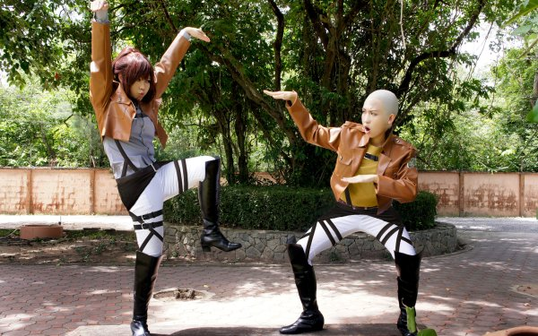 Mujeres Cosplay Sasha Blouse Connie Springer Ataque a los titanes Fondo de pantalla HD | Fondo de Escritorio