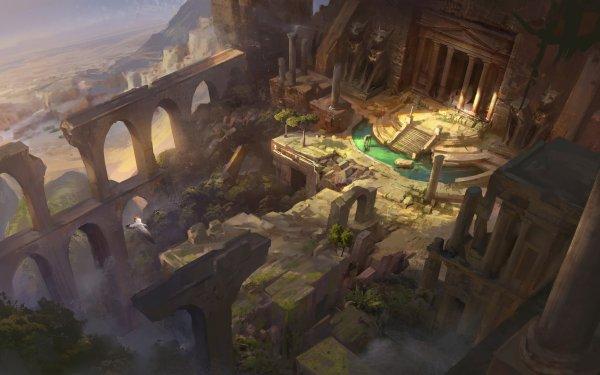 Fantaisie Ruine Columns Fond d'écran HD | Arrière-Plan