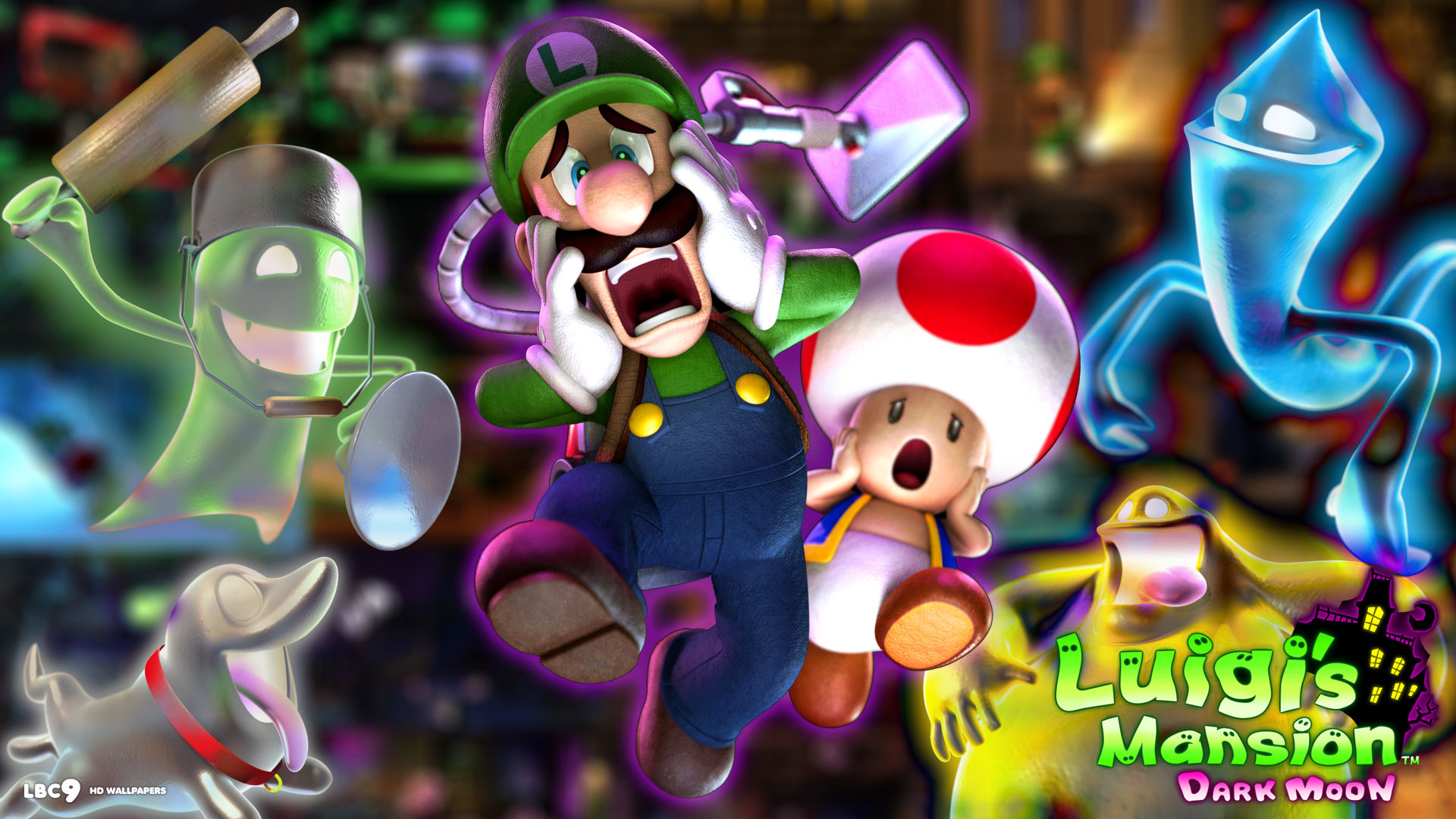 Princess Wall Mural Luigi S Mansion Full Hd Wallpaper And Background