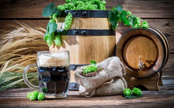 Food Beer Barrel Glass Still Life HD Wallpaper | Background Image