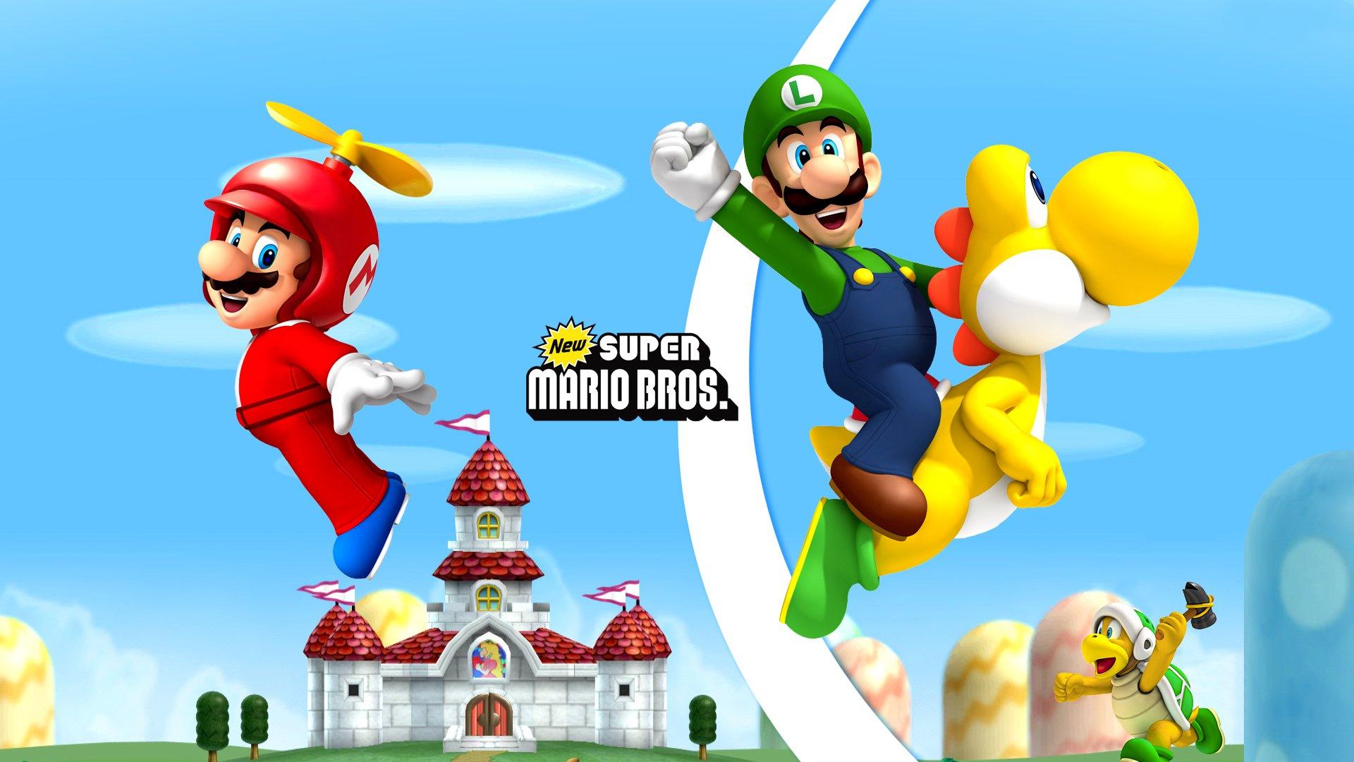 New Super Mario Bros Wii Hd Wallpaper Background Image