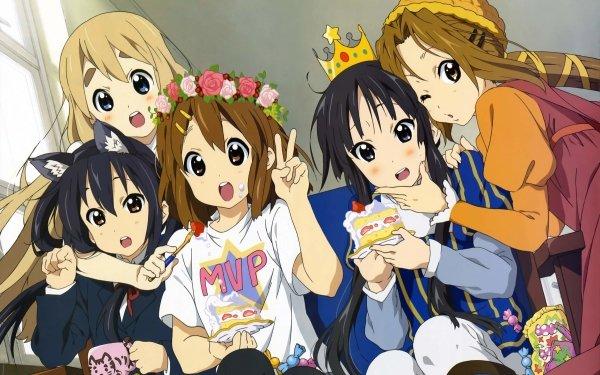 Anime K-ON! Mio Akiyama Yui Hirasawa Ritsu Tainaka Tsumugi Kotobuki Azusa Nakano HD Wallpaper   Background Image